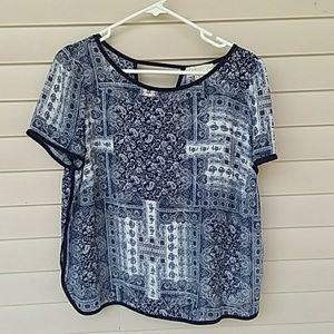 Blue designed blouse